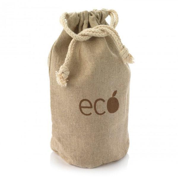 Small Natural Hemp Bag Custom Printed with Logo