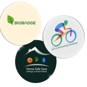 Sustainable Biodegradable Button Badges Custom Printed