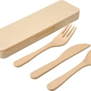 Branded Bamboo Cutlery Set