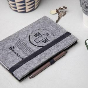 Branded RPET Felt Notebook