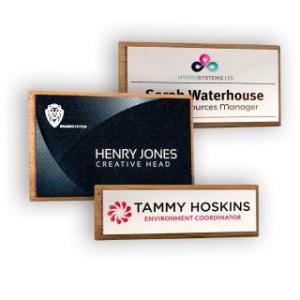 Promotional Real Wood Framed Name Badges