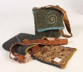 Silken Swirl Messenger Bag