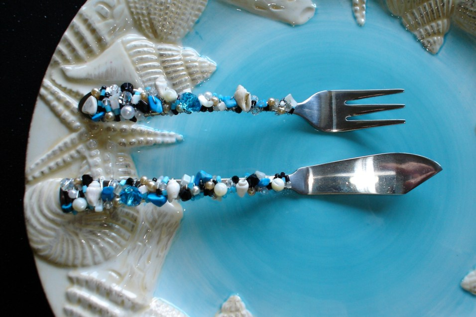 Hand-Beaded Hors D'oeuvre Serving Set