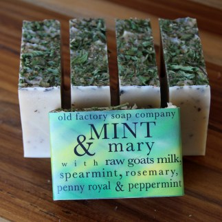 Mint & Mary Organic Olive Oil Soap Old Factory Soap