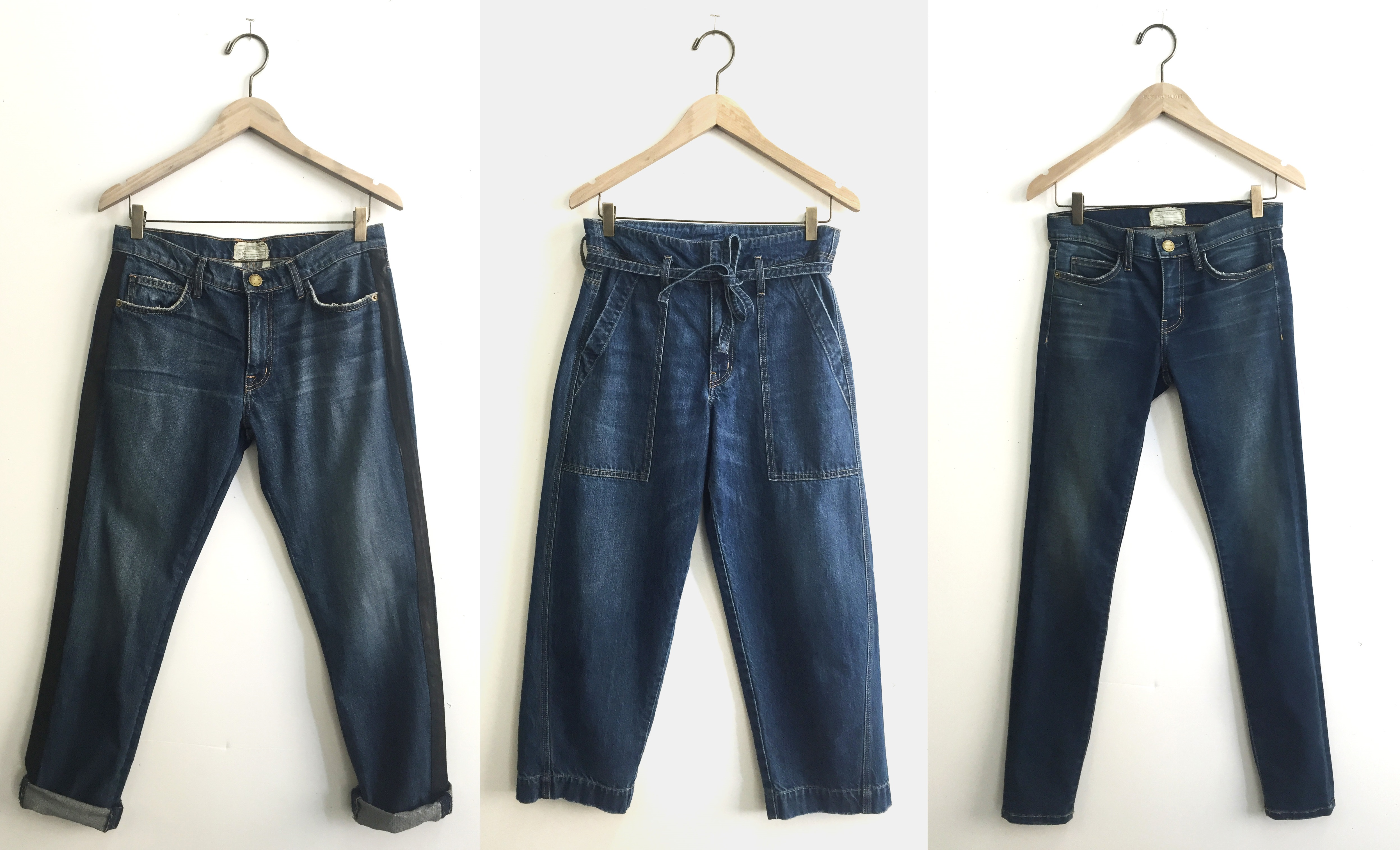 Current/Elliott styles made with Cone Denim