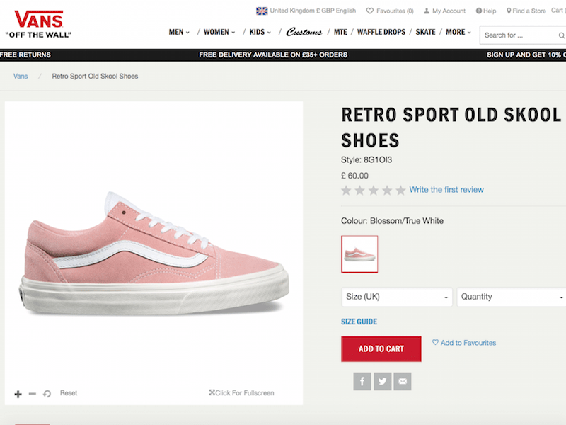 vans screen shot