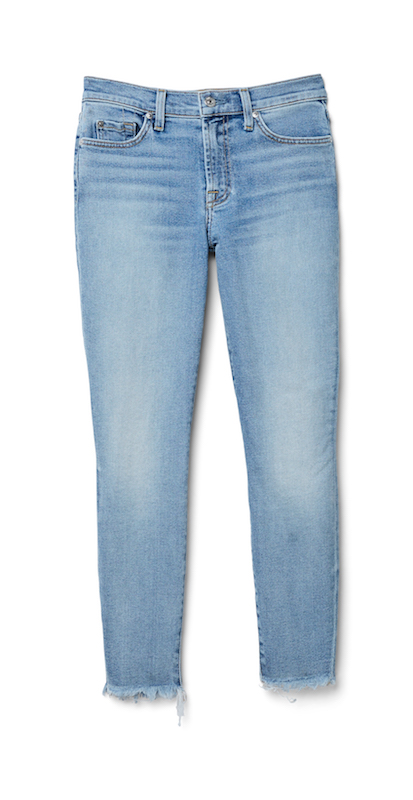 7 For All Mankind Womens Edie with Cut Off Hem and Zip Fly in Femme