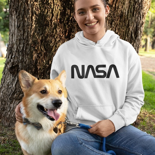 A women's NASA hoodie sells for $11 on Wish.