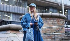 Fashionistas Experiment with Jean Fits at London Fashion Week