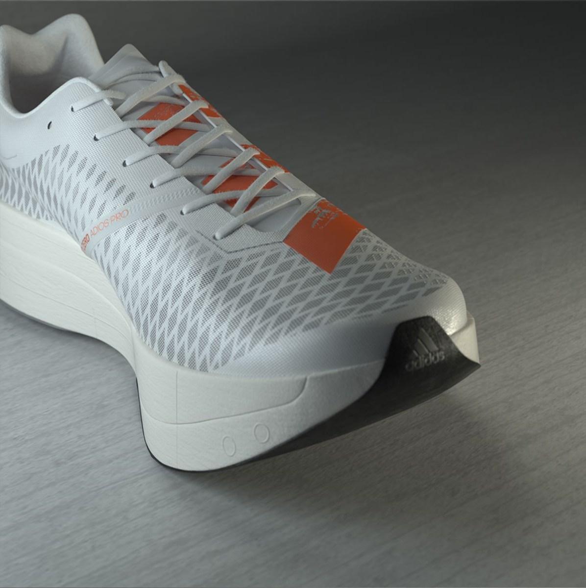 audición salario Campaña  Adidas Adizero Adios Pro Has Carbon EnergyRods and Hybrid Carbon Plate –  Sourcing Journal