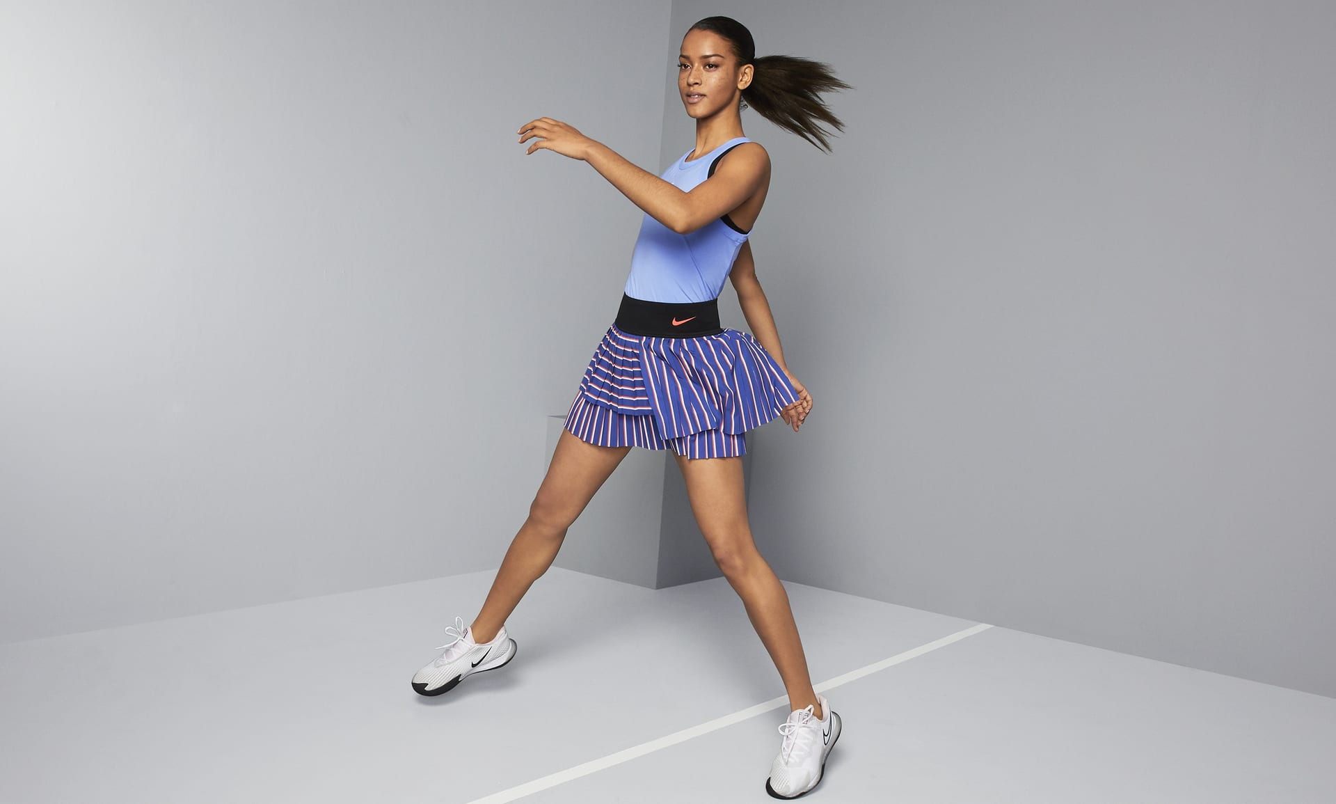 Tennis skirts are trending this summer, according to Lyst.