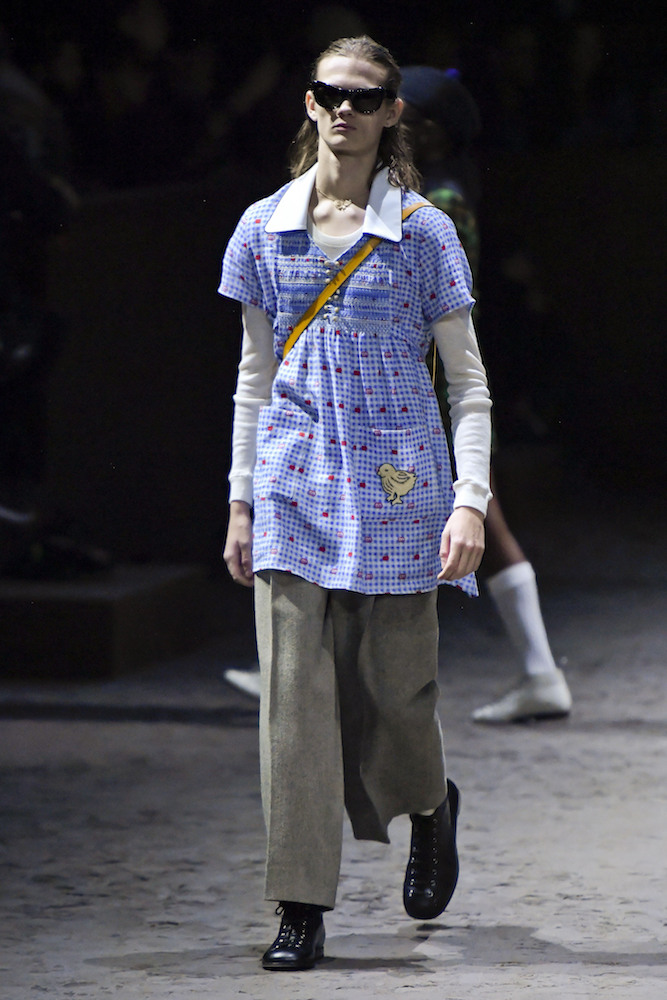 Though Alessandro Michele's designs for Gucci have skewed gender-free, a new collection marks the brand's official gender fluid line.