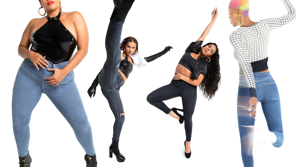 Good American's Emma Grede discussed the brand's new Always Fits jeans which expand three to four sizes for unprecedented stretch.