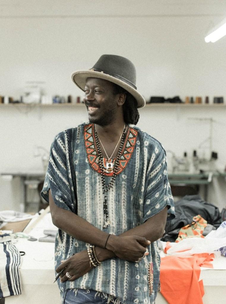 Moustapha Ndiaye in his Los Angeles studio.