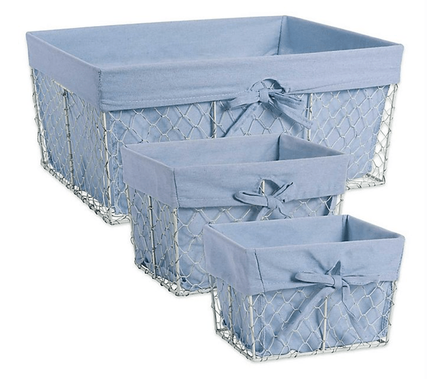 Rivet rounded up denim-inspired home décor, from baskets to furniture, that will instantly transform your space into a cozy blue haven.