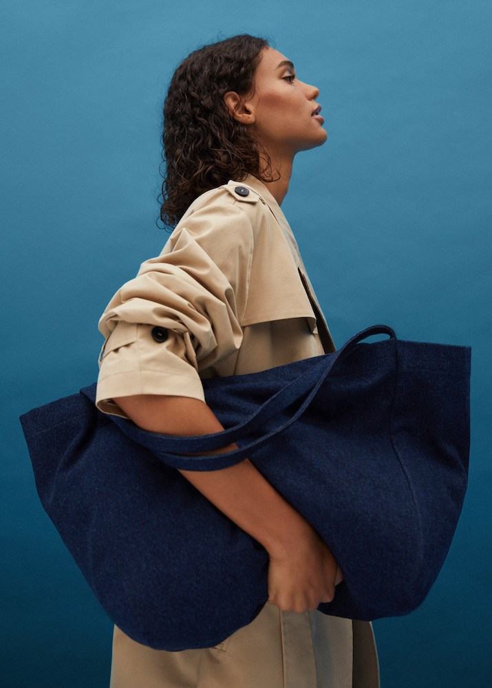 Barcelona-based fashion retailer Mango debuted a collection of denim hats, shoes and handbags made of recycled cotton.