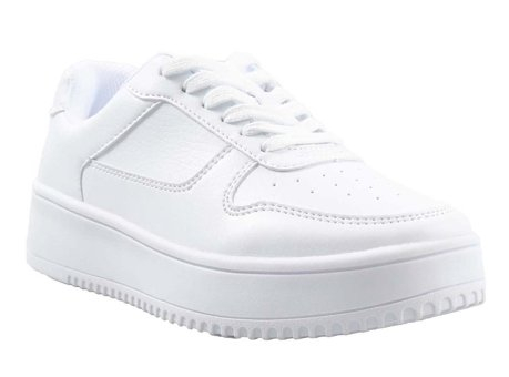 TikTok users have been buying $15 Time and Tru White Platform Sneakers from Walmart and painting them