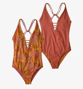 Patagonia's women's reversible Extended Break swimsuit.