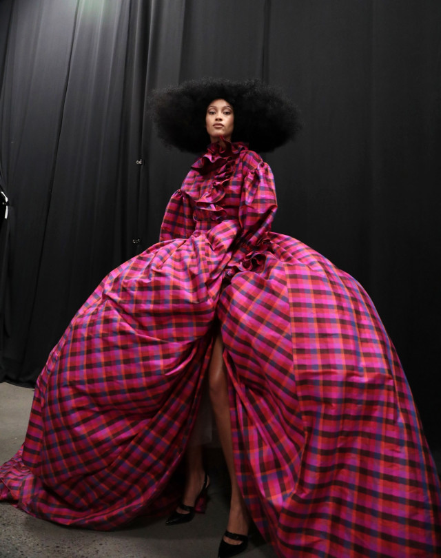 Backstage at Christopher John Rogers RTW Fall 2020