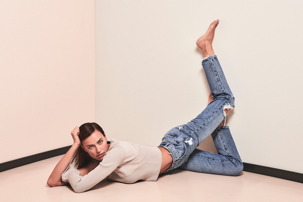 Irina Shayk Poses for DL1961 Dressed in Denim, Jumpsuits and Athleisure