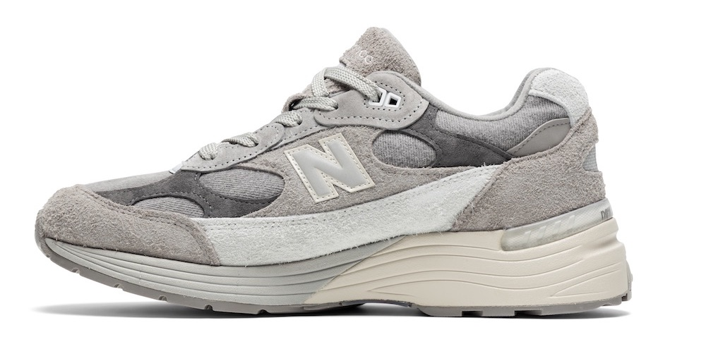 Levi's and New Balance teamed on a three-piece footwear and apparel collection centered on vintage denim and legacy styles.