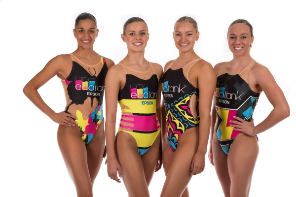 US Sync Swimming for Epson in swimsuits printed using dye-sublimation technology