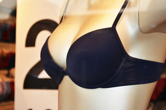 boring black bra