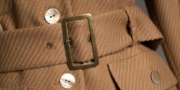 Brown coat with belt