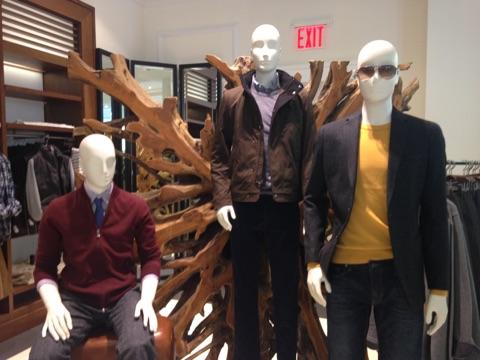 Men's display at the Flatiron store