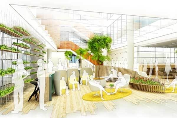 Rendering of new space, courtesy of Yoox Net-a-Porter