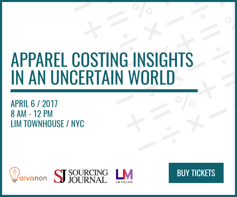 2017 Apparel Costing Insights in an Uncertain World