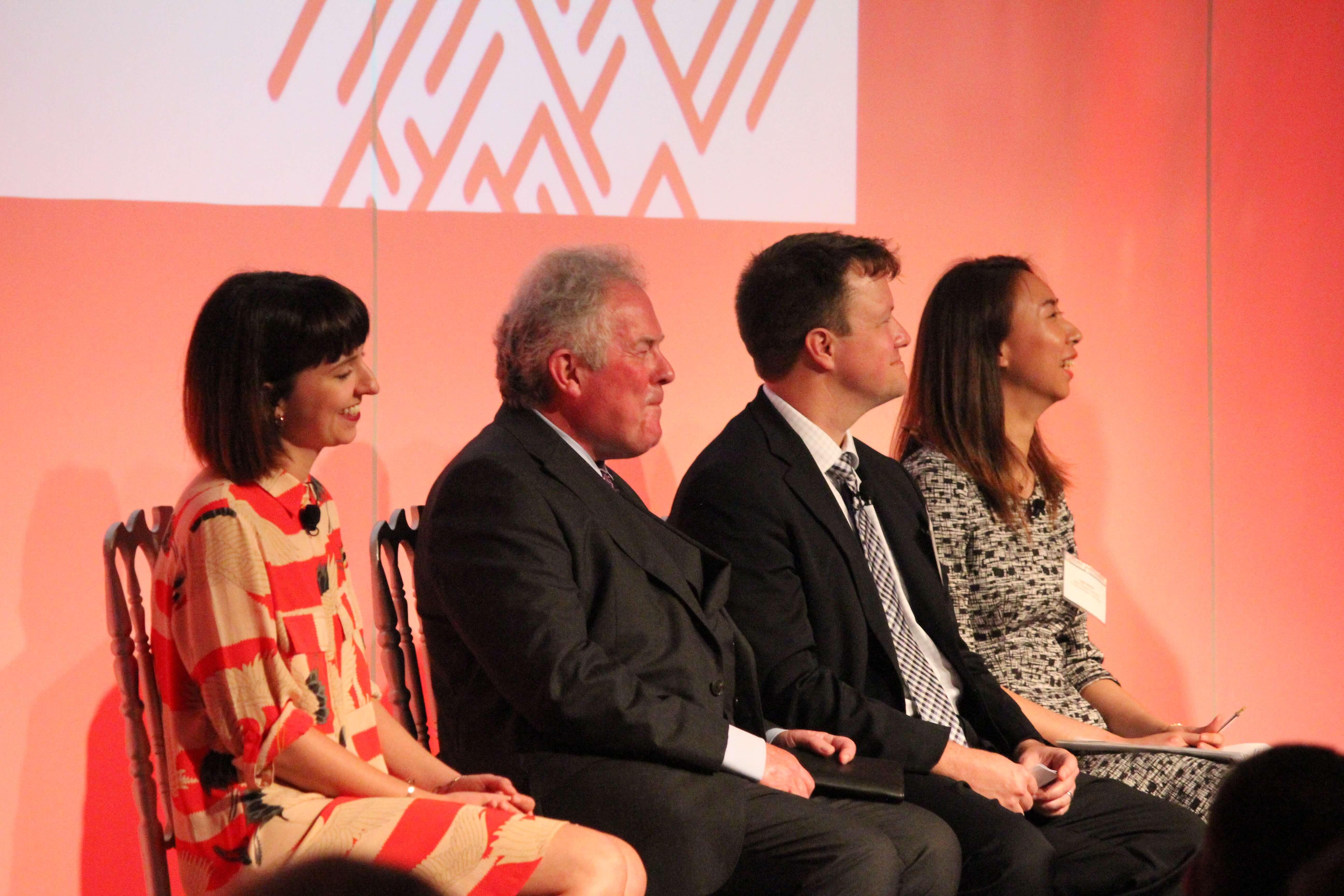 Speakers on a panel
