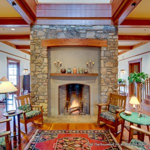 B&B with fireplace in Asheville