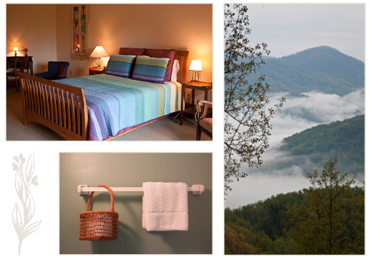 Comfortable rooms with a view at Sourwood