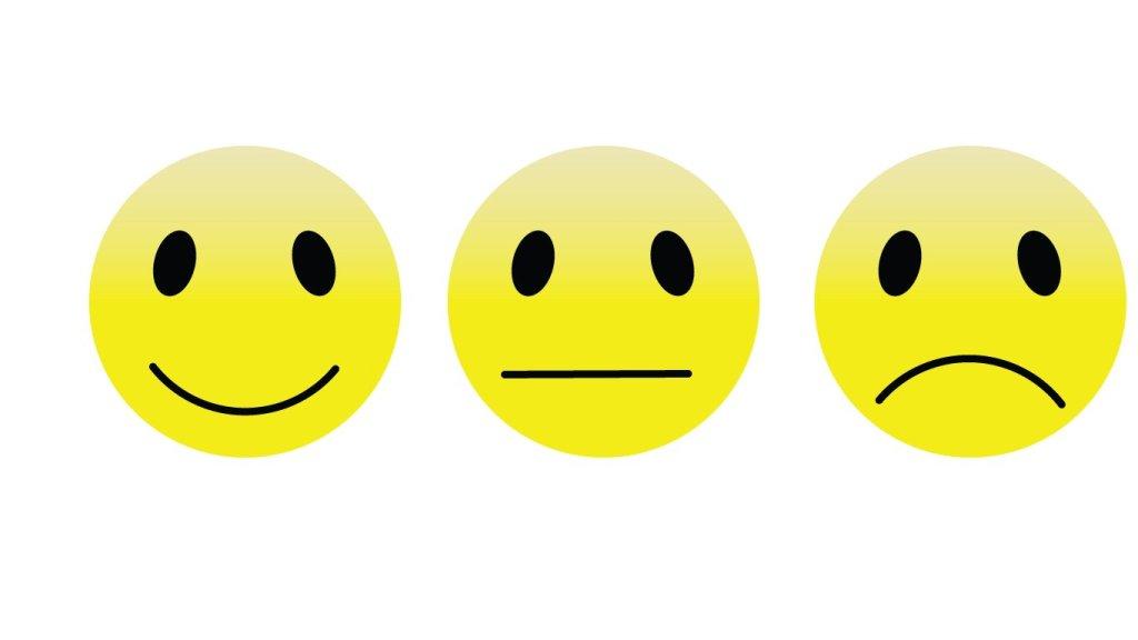 smiley-émotions-émotions agréables,  neutre ou désagréable.