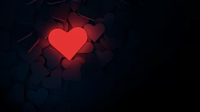 heart, background, romance