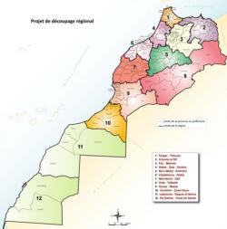 Kaart nieuwe regio's