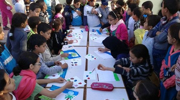 مدرسة الأطلس أيت الموذن بأكادير تحتفل بيوم التعاون المدرسي