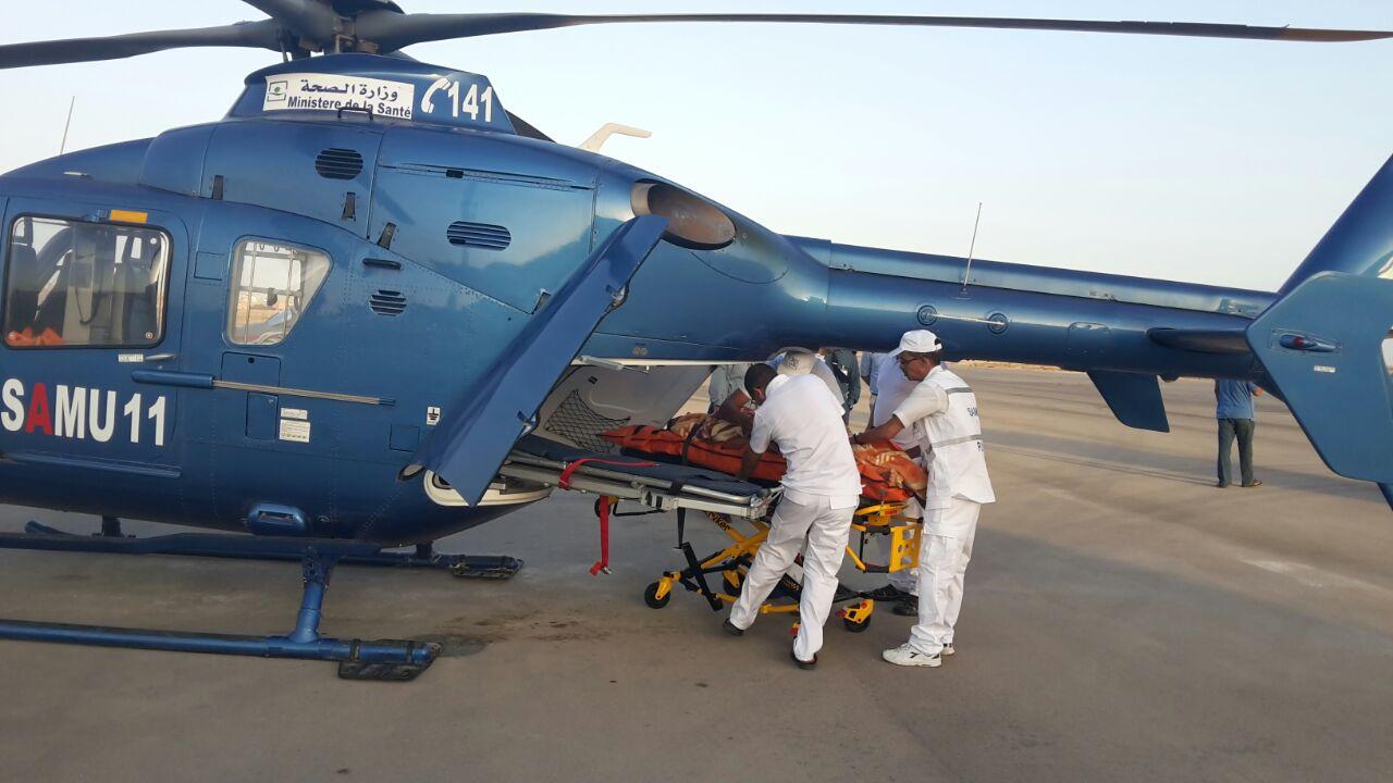 إسعاف شاب تعرض لاعتداء خطير بنقله من العيون إلى مراكش على متن مروحية