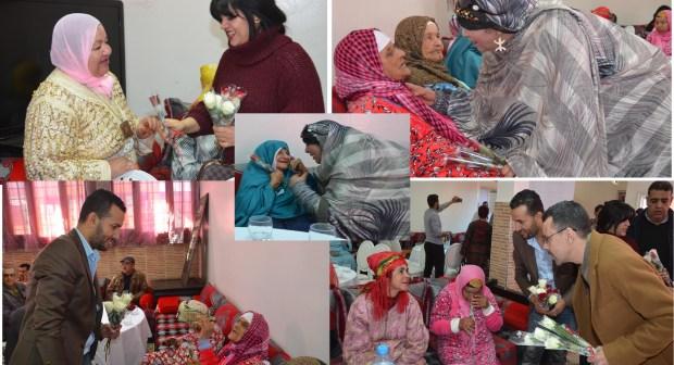 أكادير: تابعمرانت، امغران، تاشتوكت و أوتجاجت يقتسمون وجبة غذاء مع نزلاء دار الراحة