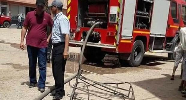محل تجاري يتعرض لحريق مهولبسوق السبت