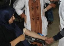 """""""رب قطرة دم تنقد بها انسان"""" شعار حملة تبرع نظمتها جمعية إشراقة أمل"""
