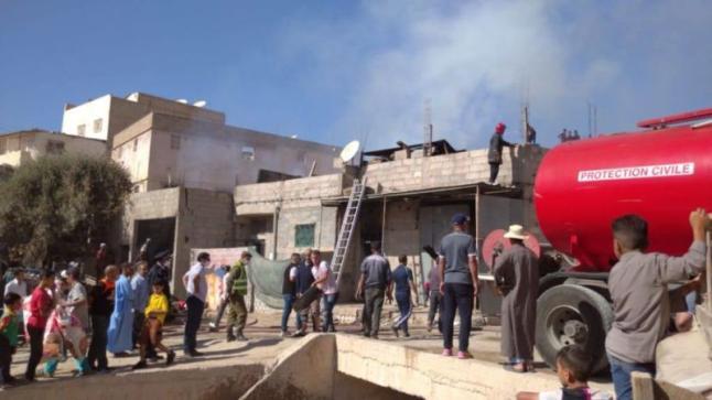حريق مهول يأتي على حمام شعبي ضواحي أكادير