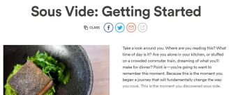 Chefsteps online sous vide course class page