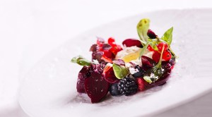 sous vide beetroot dish