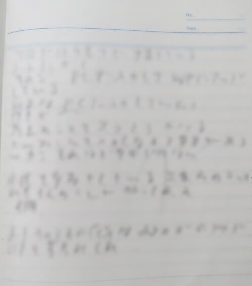 ノートの手書き例