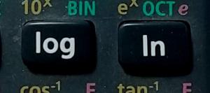 関数電卓の対数ボタン