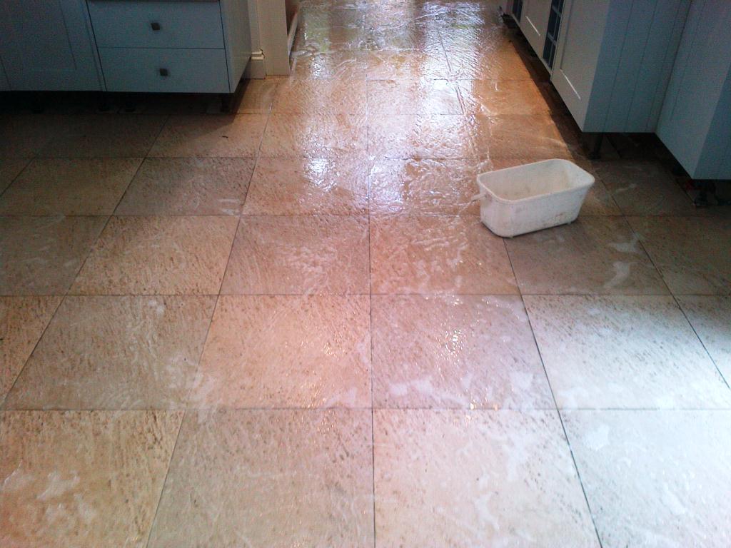deep cleaning textured ceramic kitchen