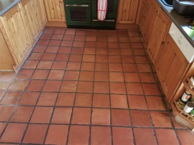 Terracotta Floor Before Cleaning Milton Keynes