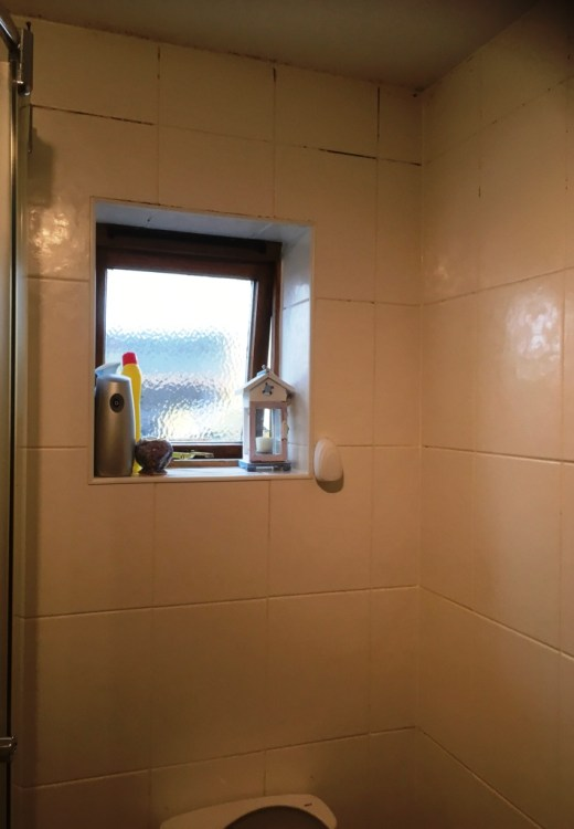 Shower Room Before Restoration Kendal
